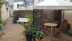 Photo de la terrasse de la résidence